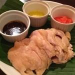 アガリコ 1/3 オリエンタルビストロ - よだれ鶏~黒胡麻、生姜、スパイシーチリ三種類のソース