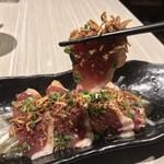 肉と和SAKEの個室居酒屋 ばく  - 肉と和SAKEの個室居酒屋 ばく 五反田店(東京都品川区西五反田)鴨ぱっちょ