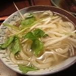 蔵家菊亭 - 山田屋うどんの温麺