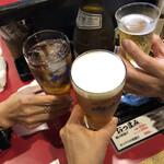 Houchun - まずは先行3名で小さく乾杯!