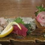 舟蔵の里 - 地魚の刺身盛り合わせ