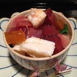 12209662 - ④鰹・カラスミ・セミ海老のちらし寿司