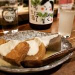 122093155 - 酒粕おでん、灘菊(純米 初しぼり)