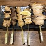 鳥元 - おまかせ串焼き五種盛り