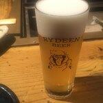 囲炉裏料理と日本酒スローフード 方舟 - ライディーンビール「ヴァイツェン」