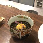 日本酒バル のまえ - 太もずく酢 雲丹のせ