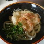 三谷製麺 - 料理写真:かけ(小)+かき揚げ