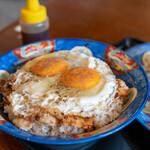 白楽天 - 2019.12 Aセット(1,000円)の焼豚玉子飯