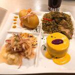 インカ飯 - インカ飯4種盛りプレート