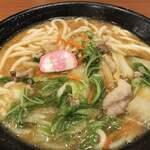 うどん 得得 - 料理写真:豚菜麺 3玉ッス!
