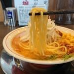 ラーメンまっくうしゃ - 平打ち麺(みそ)