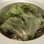 中華料理 明和酒家 - ゆでレタスオイスター風味