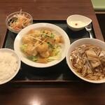 中華料理 明和酒家 - エビマヨ定食