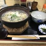 豊福 - 今日は、かき雑炊をいただきました(202019.12.21)