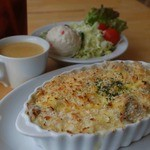 シアン ア ラ モード - チキンドリア+フルセット(ドリンク+サラダ+スープ)