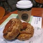 タリーズコーヒー - 料理写真:キャラメルドーナツと珈琲