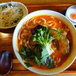 三月九日青春食堂 - トマトカレーうどんセット