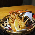 蟹しぐれ - 蟹と野菜の天麩羅