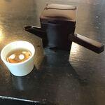 いし塚 - 蕎麦湯