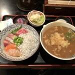 122167291 - ミニ海鮮七色丼+牡蠣天カレーそばセット