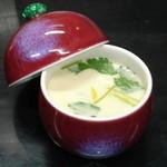 鶴生館 - 単品でご注文の場合の茶碗蒸しです。たっぷりと入る丸い器も自慢です。
