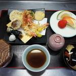 鶴生館 - 天ぷら定食(上)