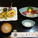 鶴生館 - 会席料理の一例。