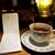 アール座読書館 - ドリンク写真:紅茶(680円)に、誰もが書ける雑記帳