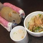 12218157 - 甘味ランチセット、豆乳スープ+サラダ:2012/03