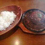 洋食&樽生ワイン しもじま亭 - 「黒毛和牛100%ハンバーグランチ」1280円