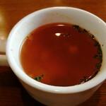 洋食&樽生ワイン しもじま亭 - ランチのコンソメスープ