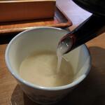 手打ちそば むら季  - 蕎麦湯