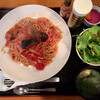 Shokukouboushinowa - 料理写真:本日のパスタ『ナスとベーコンのトマトソース』@880+「大盛り」多分@100