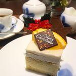メイフェア - ケーキセット マンダリンと洋梨のケーキ