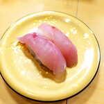 122188944 - あら(2貫¥429)。初耳だが、日本海沿岸で多く水揚げされる魚だという。クセのない白身