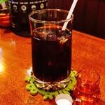 ハニー - ドリンク写真:セットのアイスコーヒー