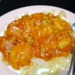 台湾中華 東明飯店 - 小海老のチリソース煮¥1030