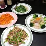 台湾中華 東明飯店 - 料理いろいろ