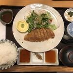 スギモト本店 - 牛カツ御膳 2200円 プラス100円でご飯大盛