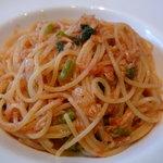 新町バール la cima - ☆パスタはツナとケッパーのトマトソースのスパゲティーニ☆