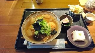 なると屋+典座 - 葛うどん+惣菜3品