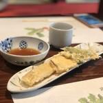 Hamanoki - 穴子一本揚げ、純米大吟醸 翠