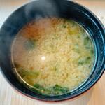 権八 SUSHI - あおさの味噌汁
