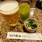 Tonkatsuniimura - 生ビール&お通し