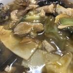 北葉飯店 - 野菜カレーそば接写。しょっぱい(笑)