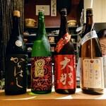 122222754 - 日本酒のラインナップ