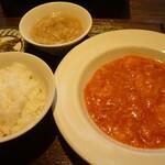 chuukaryouriiwaen - 海老チリソース定食