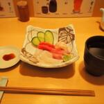 鮨竜 - お造り & 冷酒