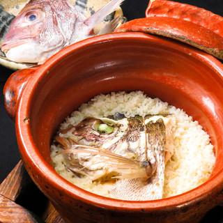 鍋・米・出汁・真鯛の全てにこだわった究極の『鯛めし』