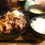 122247152 - 豚キムチ炒め&豚生姜焼き定食